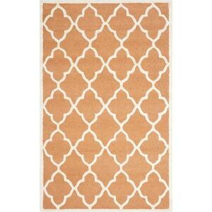Ručně vyšívaný koberec Safavieh Noelle Orange, 243 x 152 cm