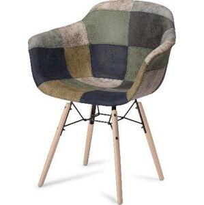 Šedá jídelní židle s nohami z bukového dřeva Furnhouse Flame Patch