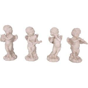 Sada 4 ks dekorativních soch z polyresinu ve tvaru anděla Antic Line Musiciens,výška22cm