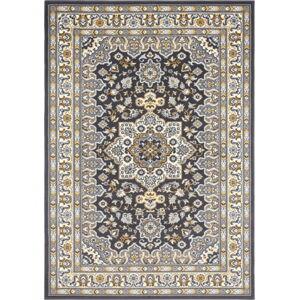Tmavě šedý koberec Nouristan Parun Tabriz, 160 x 230 cm