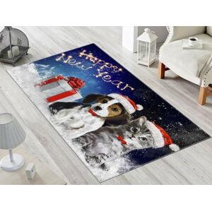 Koberec Vitaus Christmas Period Dogs, 50 x 80 cm