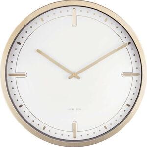Bílé nástěnné hodiny Karlsson Dots, ø 42 cm