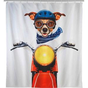 Barevný sprchový závěs Wenko Biker Dog, 180 x 200 cm