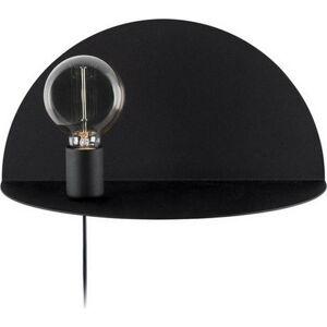 Černé nástěnné svítidlo s poličkou Homemania Decor Shelfie,délka20cm