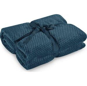 Námořnicky modrá deka z mikrovlákna DecoKing Henry,70x150cm