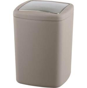 Hnědobéžový odpadkový koš Wenko Barcelona L, výška 28,5 cm