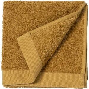 Žlutý ručník z froté bavlny Södahl Golden, 60 x 40 cm