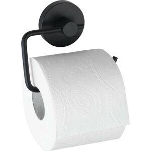 Černý držák na toaletní papír Wenko Vacuum-Loc® Milazzo