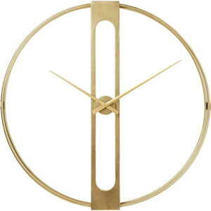 Nástěnné hodiny ve zlaté barvě Kare Design Clip, ø107cm