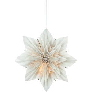 Šedá vánoční závěsná světelná dekorace Markslöjd Neela,výška45 cm