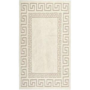 Krémový odolný bavlněný koberec Vitaus Versace, 120x180cm