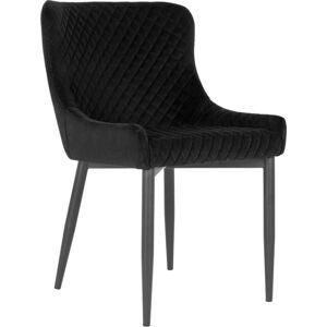 Černá jídelní židle s potahem ze sametu House Nordic Boston