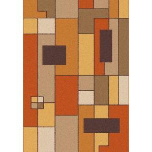 Oranžovohnědý koberec Universal Boras Rust, 57x110cm