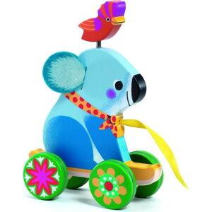 Dětská dřevěná hračka na provázku Djeco Koala