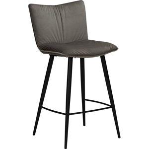 Šedá sametová barová židle DAN-FORM Denmark Join