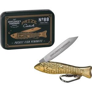 Nožík ve tvaru rybičky ve zlaté barvě Gentlemen's Hardware