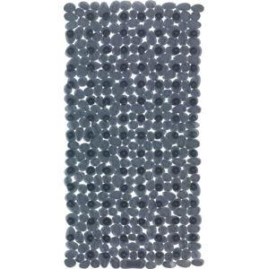 Antracitově šedá protiskluzová koupelnová podložka Wenko Drop, 71x36cm