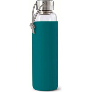 Skleněná láhev na vodu s tyrkysově modrým silikonovým obalem Black + Blum G-Bottle,600ml