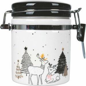 Bílá vánoční dóza na potraviny Villa d'Este Deer,190ml