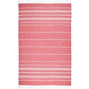 Červená osuška s příměsí bavlny Kate Louise Cotton Collection Classic Red, 100 x 180 cm