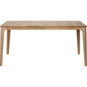 Rozkládací jídelní stůl ze dřeva bílého dubu Unique Furniture Amalfi, 90 x 160/210 cm