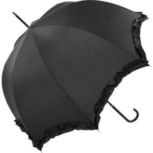 Černý svatební holový deštník Ambiance Scallop, ⌀92cm