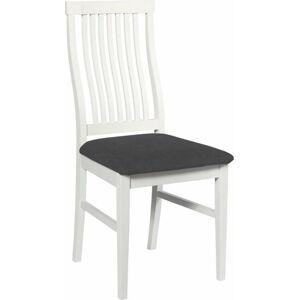 Bílá březová jídelní židle s černým sedákem Rowico Kansas