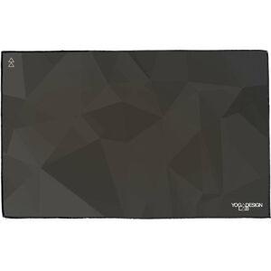 Černý ručník na jógu Yoga Design Lab Geo Night, 61x38cm