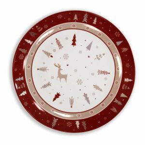Porcelánový talíř s vánočním motivem Brandani Fiocco, ⌀ 30,5 cm