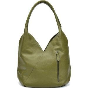 Zelená kožená kabelka Roberta M Brigida