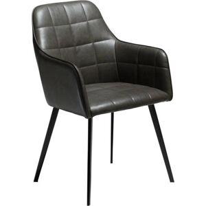 Tmavě šedá koženková židle DAN-FORM Denmark Embrace Vintage