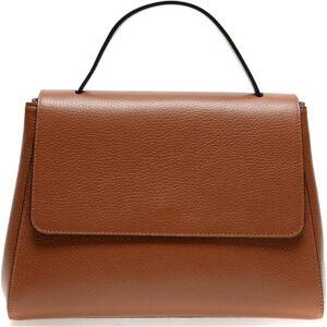 Hnědá kožená taška do ruky Renata Corsi