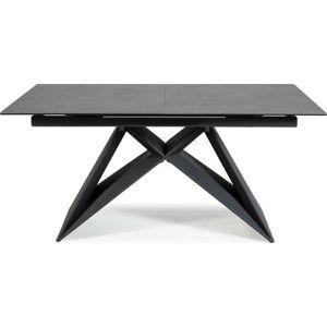 Černý rozkládací jídelní stůl Marckeric Hara