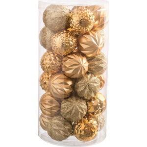 Sada 30 vánočních ozdob ve zlaté barvě Unimasa Labbas