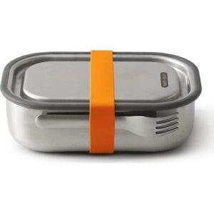 Nerezová svačinová krabička s oranžovým páskem Black + Blum, 1000ml