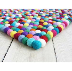 Kuličkový vlněný koberec Wooldot Ball Rugs Multi, 100 x 150 cm
