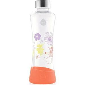 Oranžová skleněná láhev Equa Flowerhead Poppy, 550ml