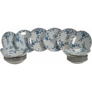 18dílná sada porcelánových talířů Villa d'Este Hamasei