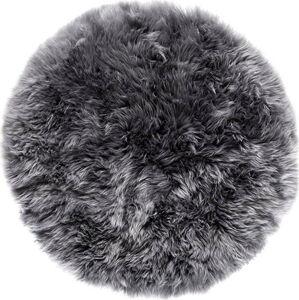 Šedý koberec z ovčí kožešiny Royal Dream Zealand,⌀ 70cm
