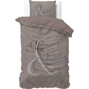 Bavlněné povlečení na jednolůžko Pure Cotton Mr and Mrs Knitted,140x200/220cm