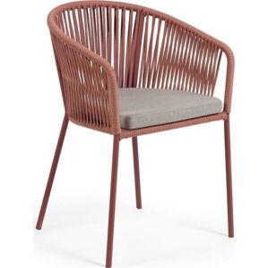 Zahradní židle s výpletem v barvě terakota La Forma Yanet
