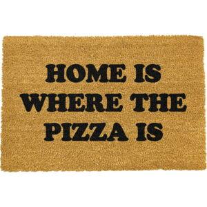 Rohožka z přírodního kokosového vlákna Artsy Doormats Home Is Where the Pizza Is,40x60cm