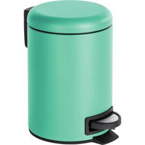 Mentolově zelený pedálový odpadkový koš Wenko Leman, 3 l