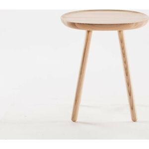 Přírodní odkládací stolek z masivu EMKO Naïve Small, ø45cm