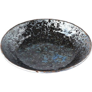 Černo-šedý keramický hluboký talíř MIJ Pearl, ø 24 cm