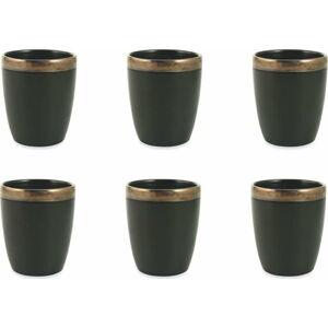 6dílná sada černých sklenic z kameniny Villad'Este Naima, 330 ml