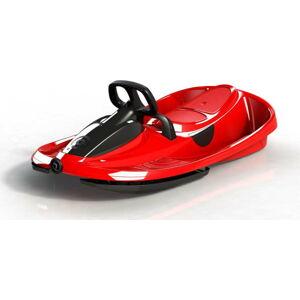 Červený zimní bob s volantem Gizmo Stratos racing