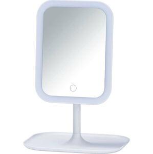 Bílé kosmetické zrcadlo s LED podsvícením Wenko Bertolio