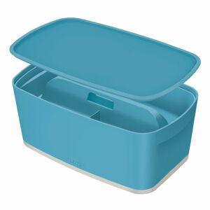 Modrý úložný box s víkem a organizérem Leitz Cosy, objem 5 l