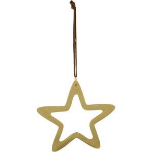 Závěsná vánoční dekorace ve zlaté barvě Ego Dekor Star